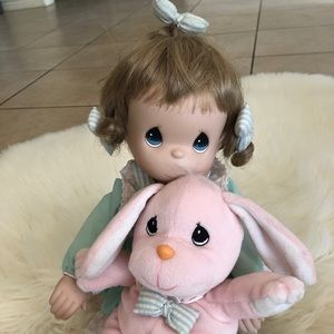 Precious Moments Doll with Stuffed Animal (lamb)